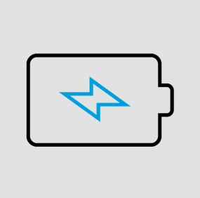 icon of a battery charging